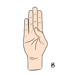 Sign language and the alphabetThe Letter B vector image
