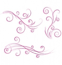 swirls floral designs vector image vector image