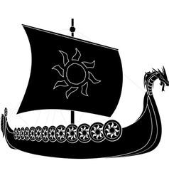 viking ship vector image