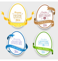Easter emblems vector image