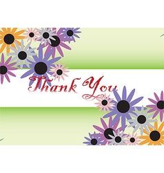 Thank You card background vector image vector image