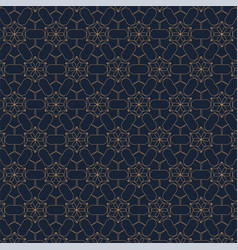 geometric contour pattern on blue background vector image vector image