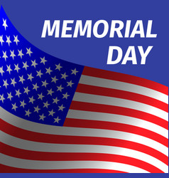 memorial day design with flag vector image vector image