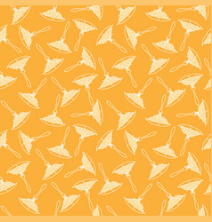 seamless pattern spaghetti white line on yellow vector image