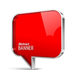 Shiny gloss red plastic banner vector image