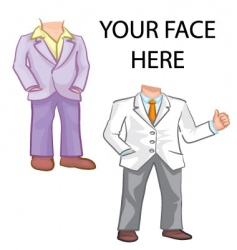 suit template vector image vector image