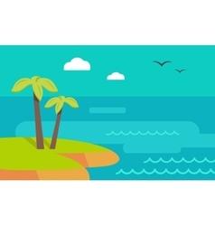 Topic Island Banner Hot Summer Weekend vector image
