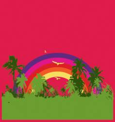 tropical rainbow vector image vector image