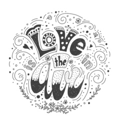 with Love lettering vector image vector image