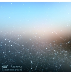 Abstract polygonal mesh space futuristic vector image vector image