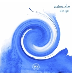beautiful blue watercolor background for design vector image