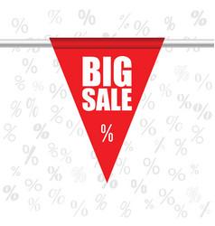 big sale icon in red color vector image vector image
