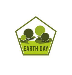 Earth day world ecology green nature icon vector