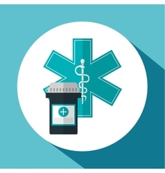 Medical care design Health care icon Colorfull vector image vector image