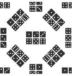 set of six dices icon seamless pattern on white vector image