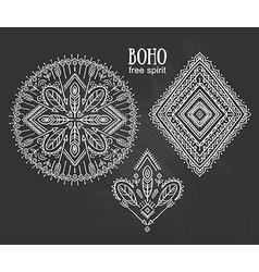 Tribal elements ethnic collection aztec stylish vector image