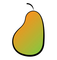 a pear icon on a white background gradient vector image