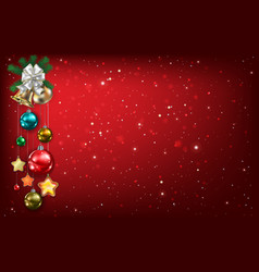 Abstract background with christmas bells and vector