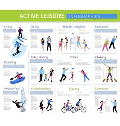Active Leisure People Infographics vector
