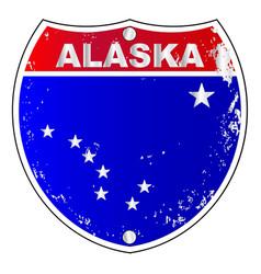 alaska interstate sign vector image