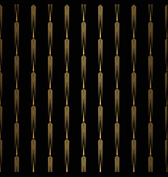 Art deco pattern seamless black and gold vector