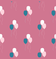 Ballon seamless pattern on pink background in vector