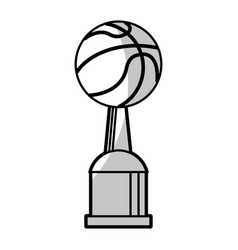 basketball winner cup prize - shadow vector image