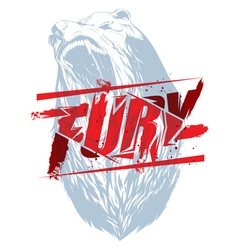 Bear fury vector image
