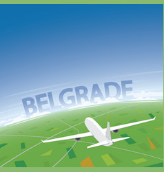 Belgrade flight destination vector