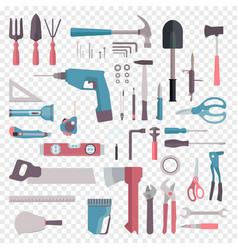 big set cartoon building tools repair home vector image