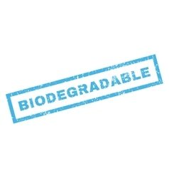 Biodegradable Rubber Stamp vector
