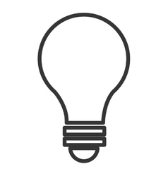 black and white light bulb graphic vector image