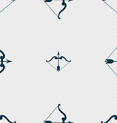 Bow and arrow icon sign Seamless pattern with vector