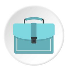 Briefcase icon circle vector