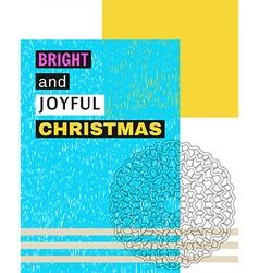 Bright and Joyful Christmas vector image
