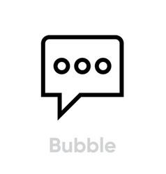 bubble message icon editable line vector image