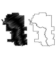 Calgary city canada alberta province map vector