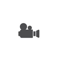 camera movie logo vector image
