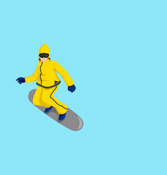 Cartoon of a snow boarder vector