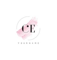 Ce c e watercolor letter logo design with vector