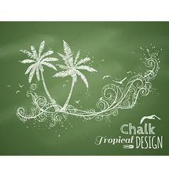 Chalk tropical vector