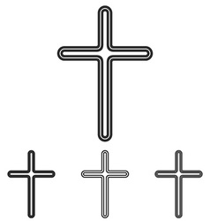 Christian cross logo design set vector