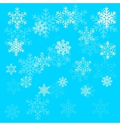 Christmas snowflake on blue sky background vector image