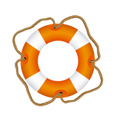 color lifebuoy icon image vector image