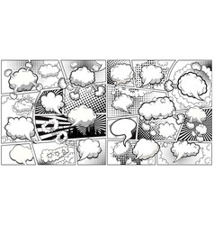comic book black and white page template divided vector image
