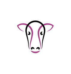 cow icon symbol sign element vector image