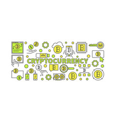 Crypto currency colorful vector