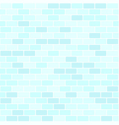 Cyan brick wall pattern seamless rounded vector