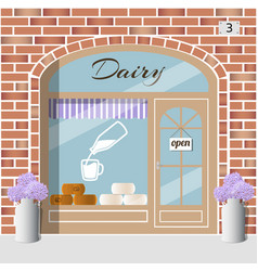 Dairy products shop vector