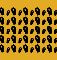 dead coffin pattern vector image